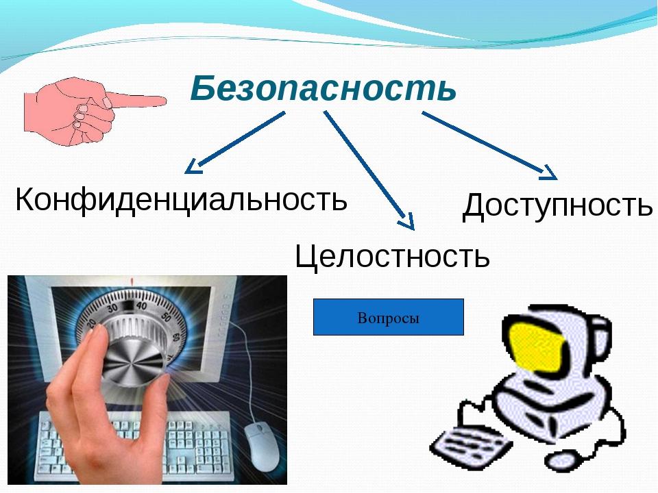 Конфиденциальность Целостность Доступность Безопасность Вопросы