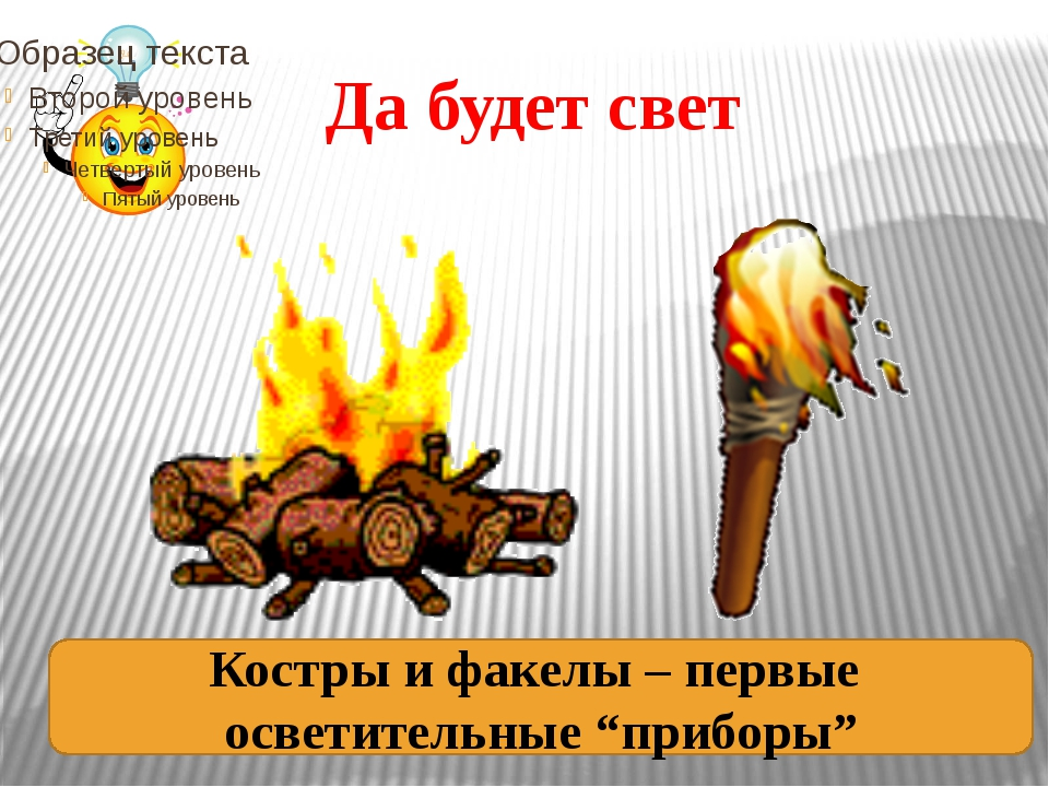 """Да будет свет Костры и факелы – первые осветительные """"приборы"""""""