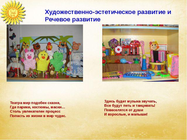 Художественно-эстетическое развитие и Речевое развитие Театра мир подобен ска...