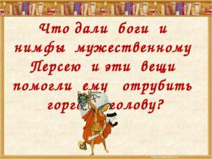 Что дали боги и нимфы мужественному Персею и эти вещи помогли ему отрубить г