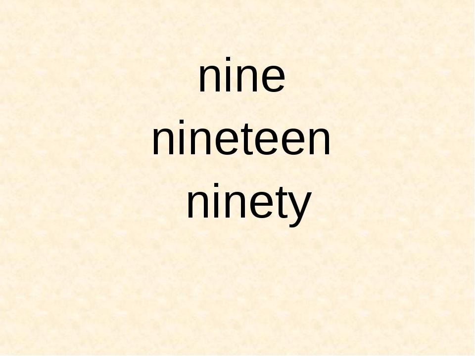 nine nineteen ninety