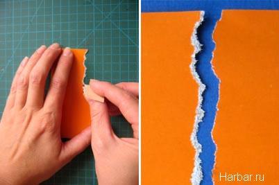 Как сделать рваный край бумаги вшопе