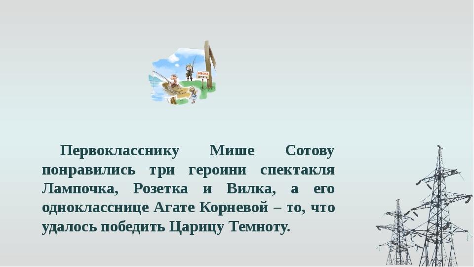Первокласснику Мише Сотову понравились три героини спектакля Лампочка, Розетк...