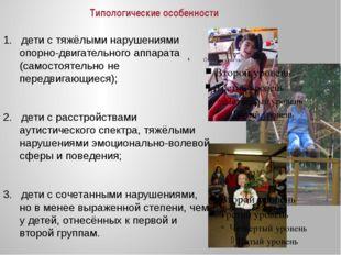 Типологические особенности 1. дети с тяжёлыми нарушениями опорно-двигательног