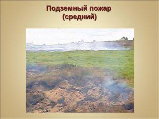 Подземный пожар (средний) Глубина прогорания 25-50 см