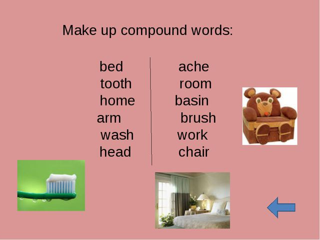bed ache tooth room home basin arm brush wash work head chair Make up compoun...