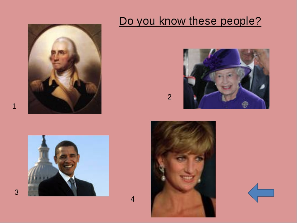 Do you know these people? 1 2 3 4