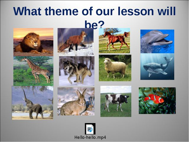 What theme of our lesson will be?