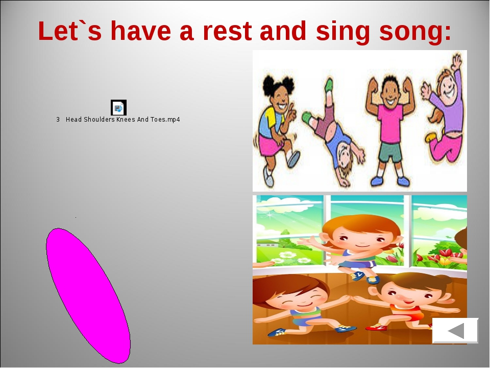 Let`s have a rest and sing song:
