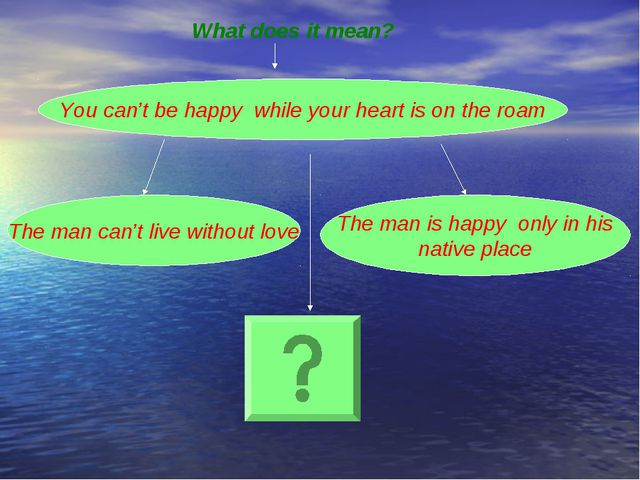 You can't be happy while your heart is on the roam The man can't live without...