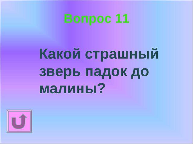 Вопрос 11 Какой страшный зверь падок до малины?