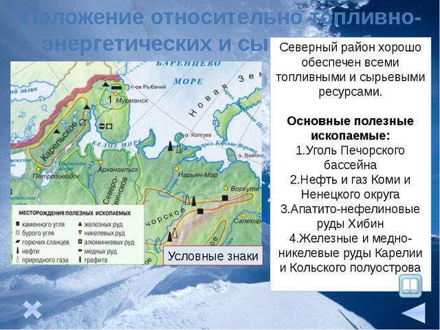 Подрайоны Европейского Севера Кольско –Карельский В подрайоне работают комби...