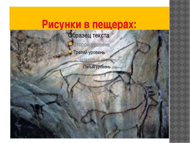 Рисунки в пещерах: