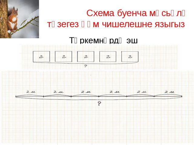 Схема буенча мәсьәлә төзегез һәм чишелешне языгыз Төркемнәрдә эш
