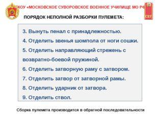 ФГКОУ «МОСКОВСКОЕ СУВОРОВСКОЕ ВОЕННОЕ УЧИЛИЩЕ МО РФ» 3. Вынуть пенал с принад