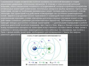 Современная теория космических полётов основана нанебесной механикеи теории