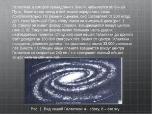 Рис.1.Вид нашей Галактики:а- сбоку,б– сверху Галактика, к которой прина