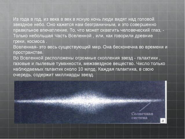 Из года в год, из века в век в ясную ночь люди видят над головой звездное н...