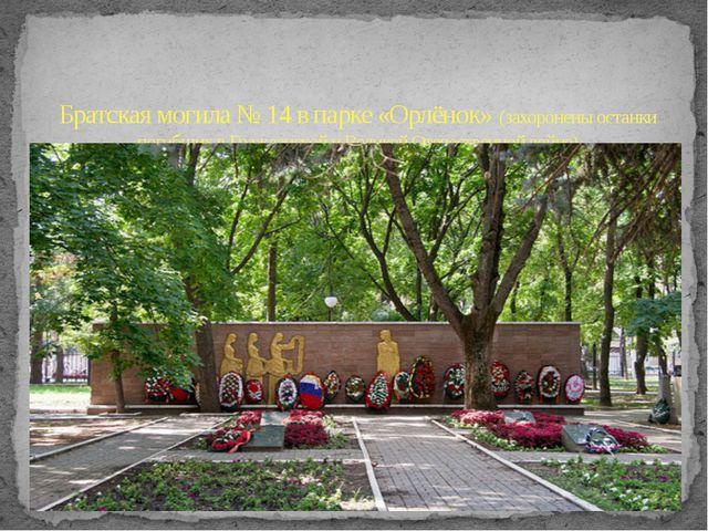 Братская могила № 14 в парке «Орлёнок» (захоронены останки погибших в Граждан...