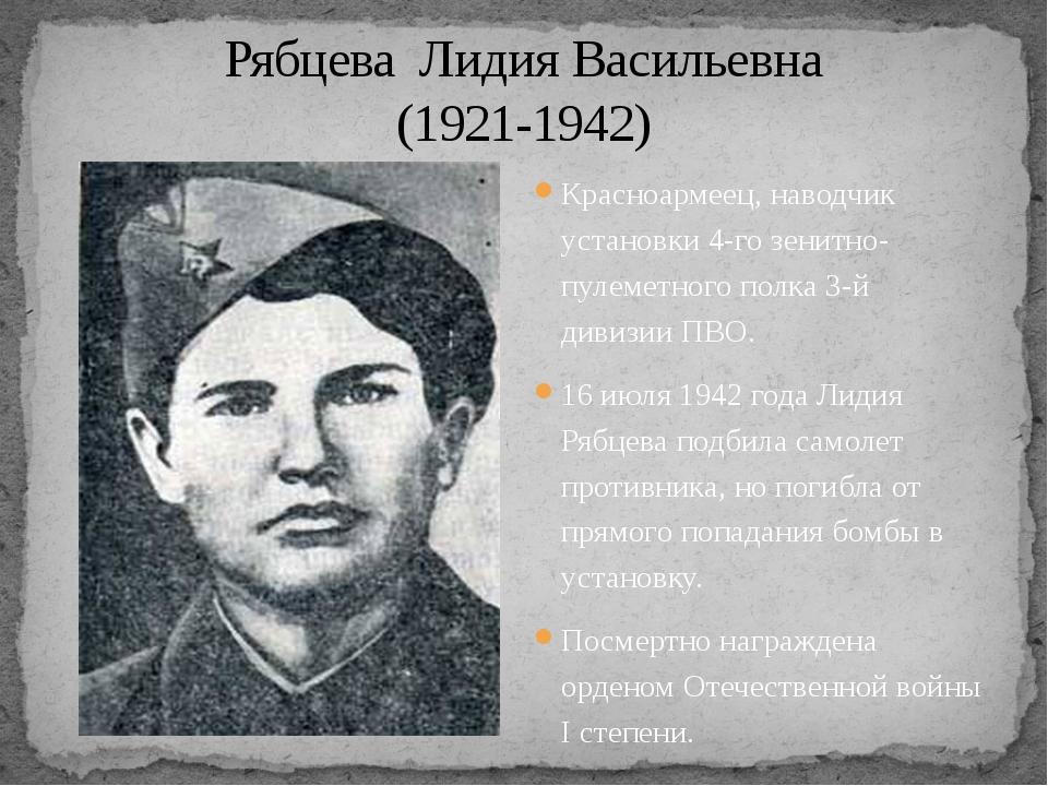 Красноармеец, наводчик установки 4-го зенитно-пулеметного полка 3-й дивизии П...