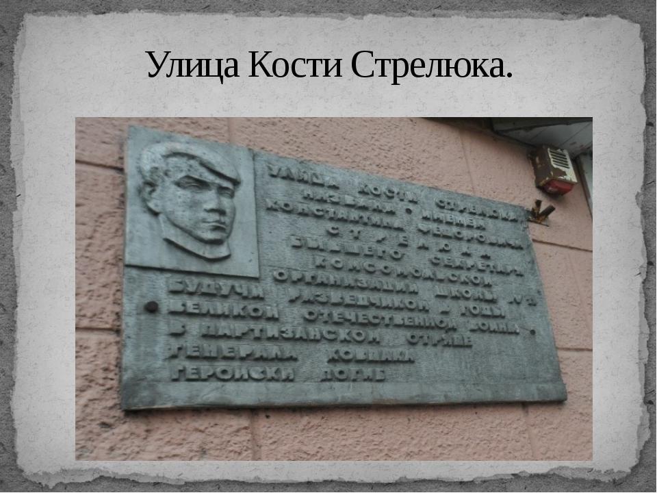 Улица Кости Стрелюка.