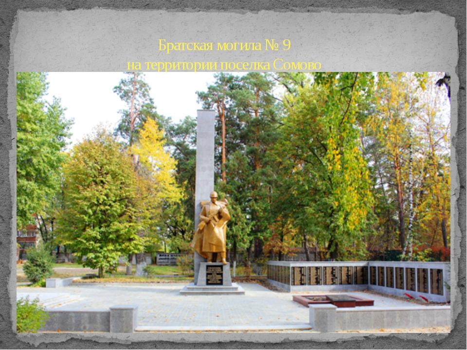 Братская могила № 9 на территории поселка Сомово