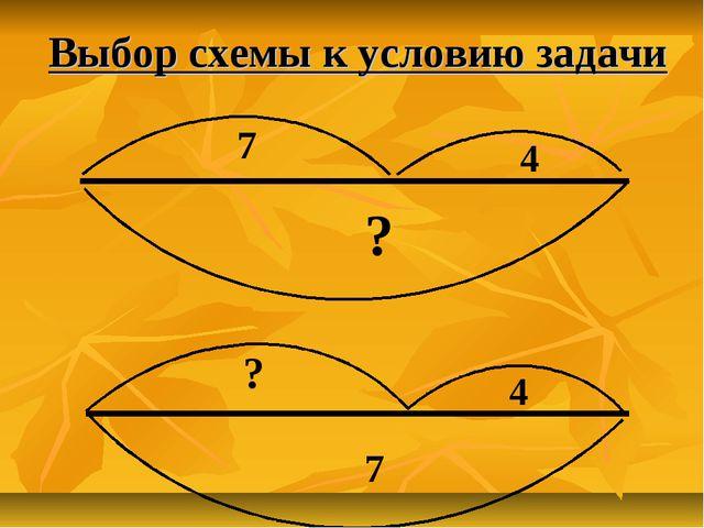 Выбор схемы к условию задачи 7 4 ? ? 4 7