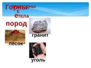 ПРИРОДНЫЕ ТЕЛА Горные породы гранит песок уголь