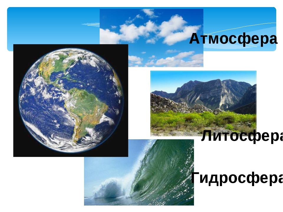 Атмосфера Литосфера Гидросфера