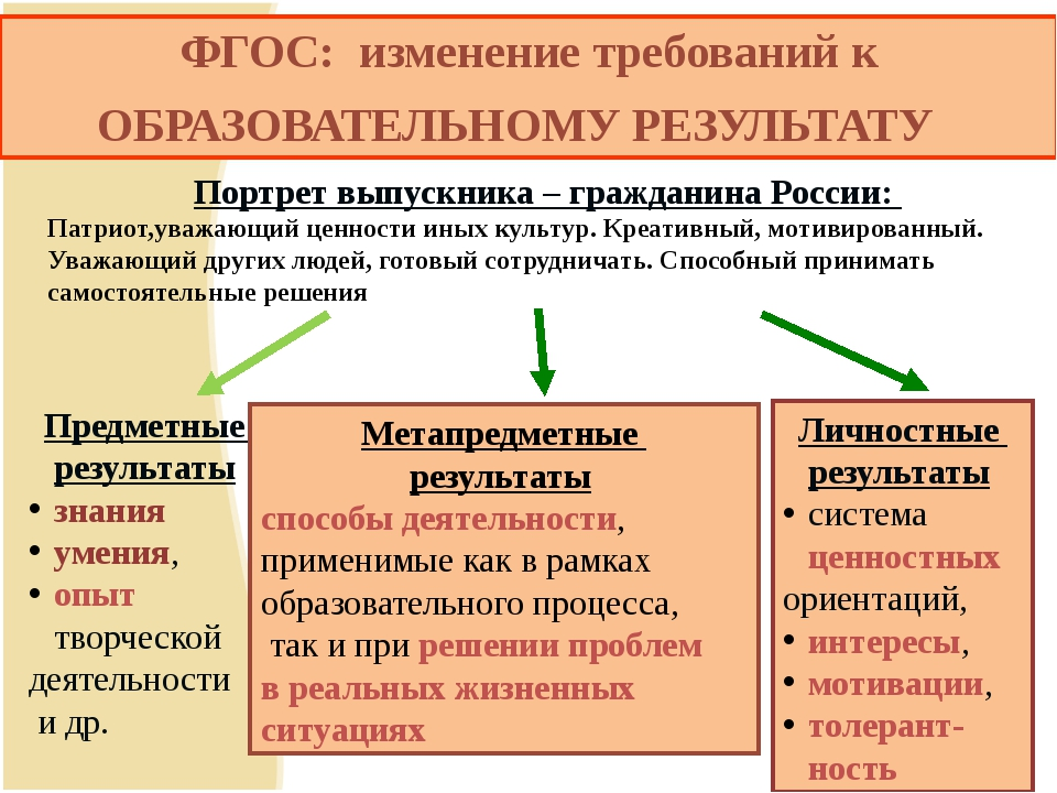 Предметные результаты знания умения, опыт творческой деятельности и др. Личн...