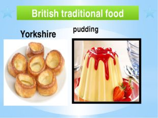 British traditional food pudding Yorkshire