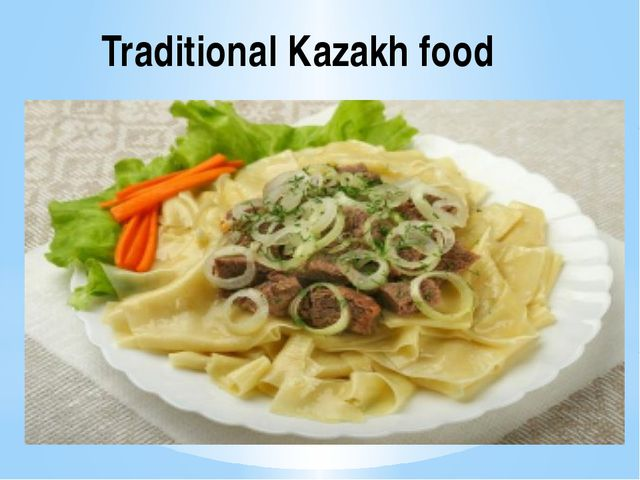 Traditional Kazakh food