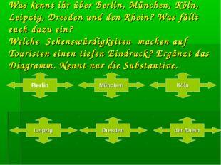 Was kennt ihr über Berlin, München, Köln, Leipzig, Dresden und den Rhein? Was