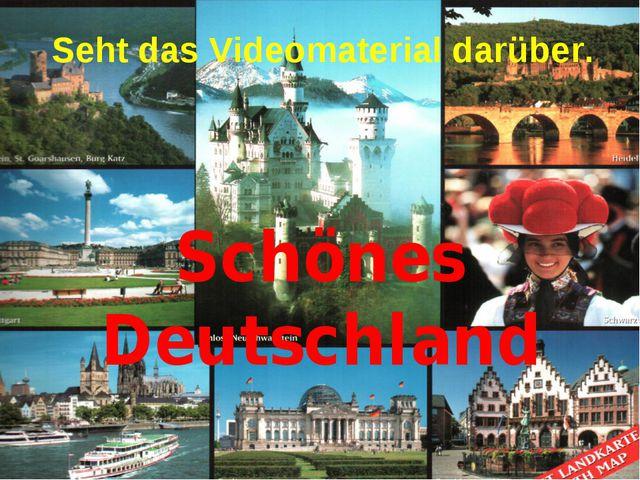 Schönes Deutschland Seht das Videomaterial darüber.