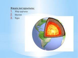 Жердің ішкі құрылысы: Жер қыртысы Мантия Ядро
