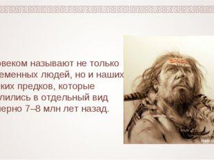 Человеком называют не только современных людей, но и наших далёких предков, к