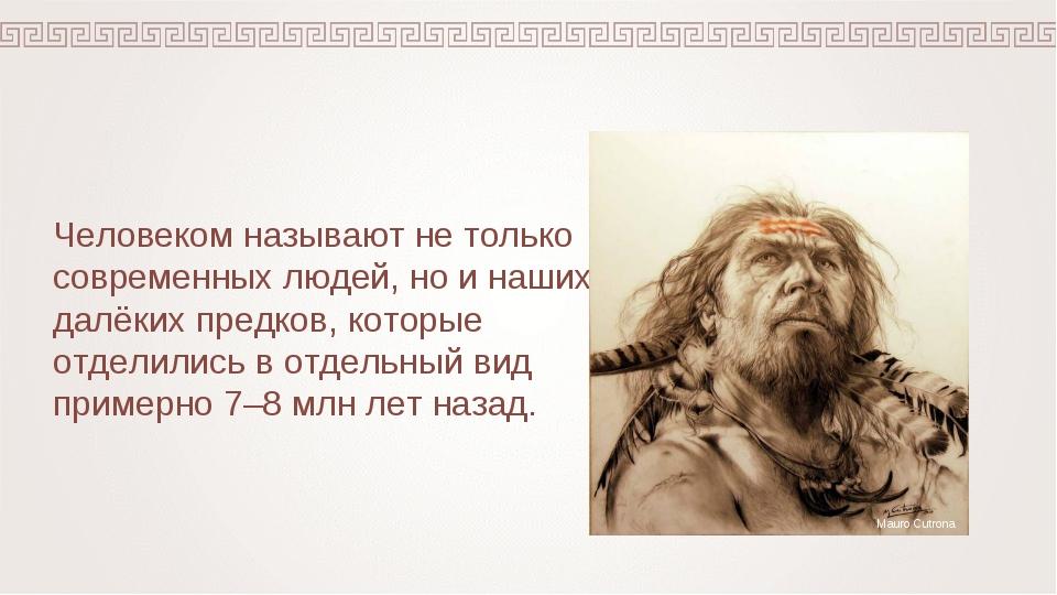 Человеком называют не только современных людей, но и наших далёких предков, к...