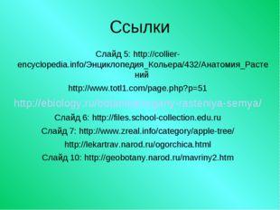 Ссылки Слайд 5: http://collier-encyclopedia.info/Энциклопедия_Кольера/432/Ана