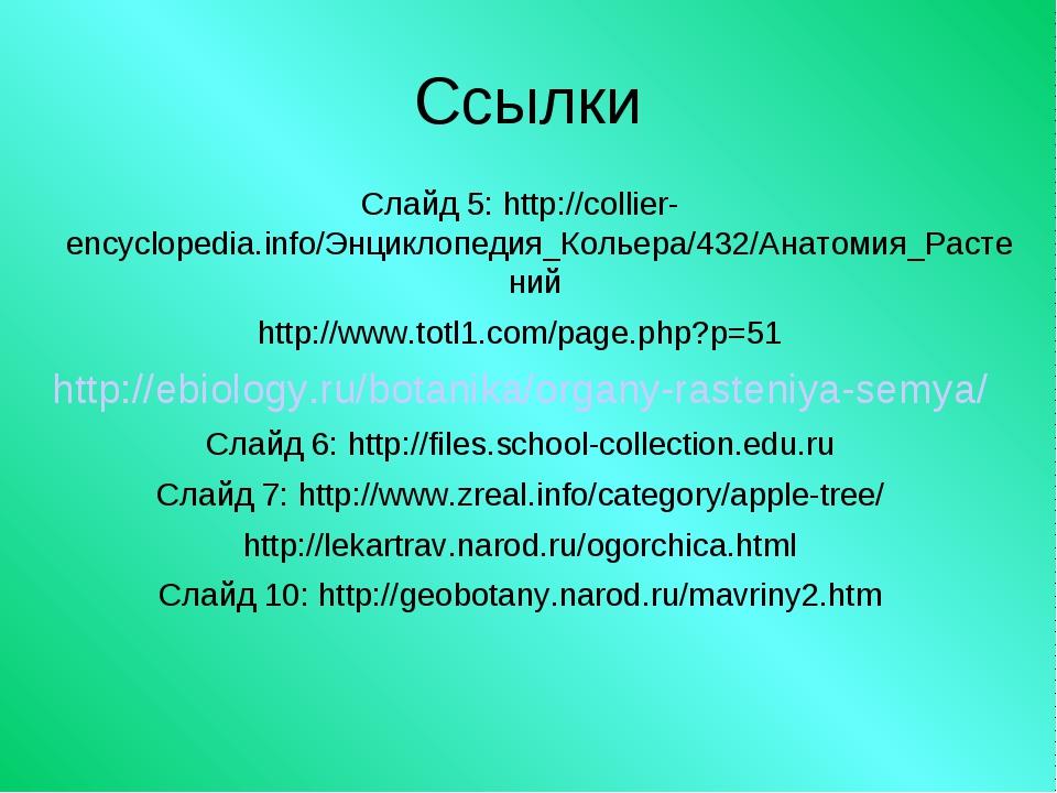 Ссылки Слайд 5: http://collier-encyclopedia.info/Энциклопедия_Кольера/432/Ана...