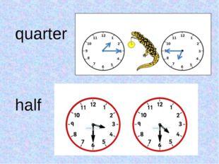 quarter half