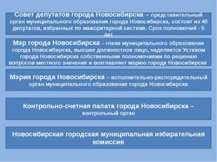 Совет депутатов города Новосибирска – представительный орган муниципального о