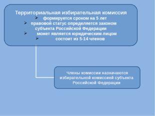 Территориальная избирательная комиссия формируется сроком на 5 лет правовой с