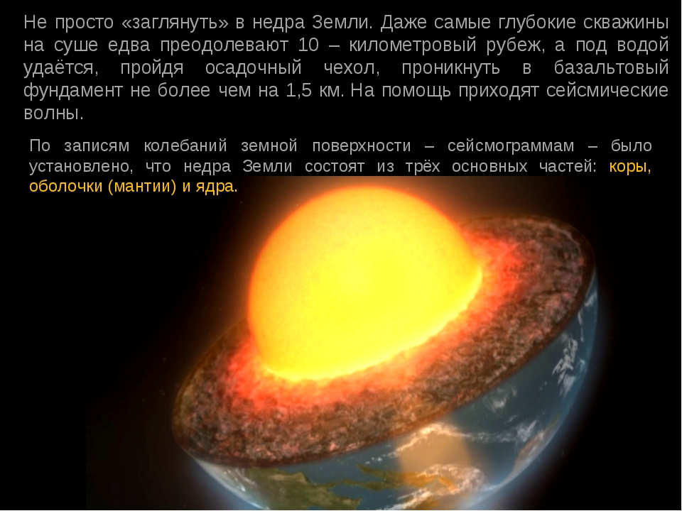 Не просто «заглянуть» в недра Земли. Даже самые глубокие скважины на суше едв...