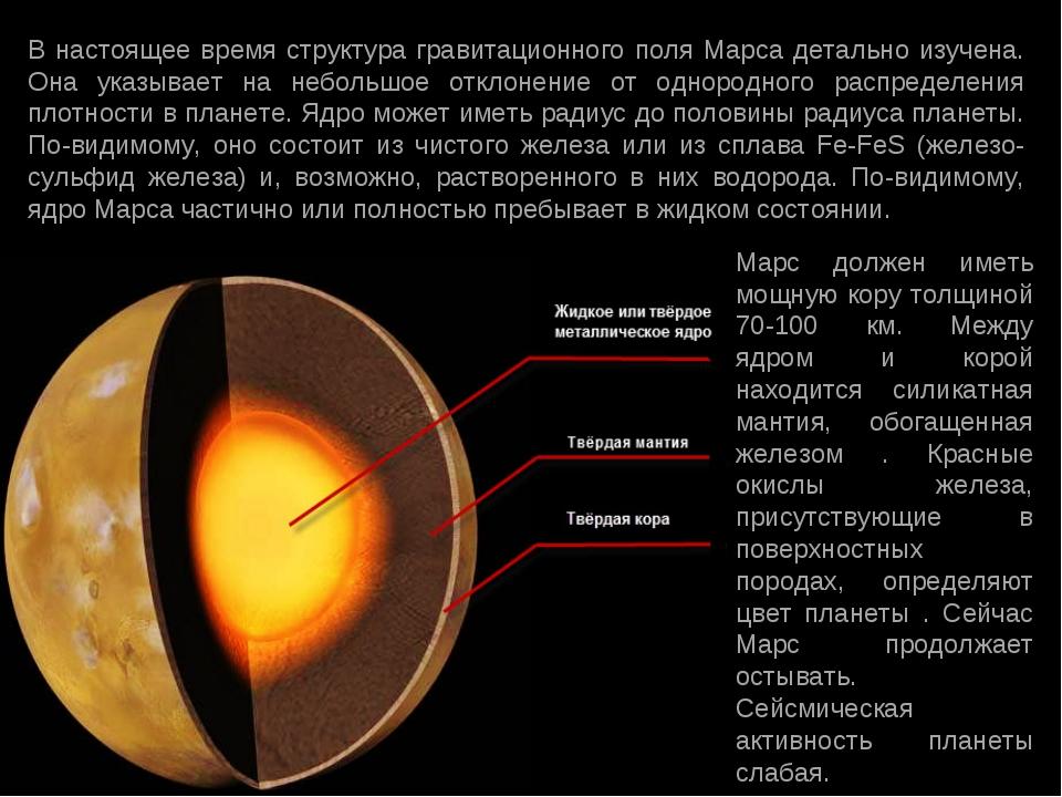 В настоящее время структура гравитационного поля Марса детально изучена. Она...