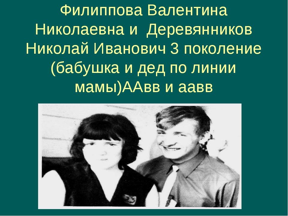 Филиппова Валентина Николаевна и Деревянников Николай Иванович 3 поколение (б...