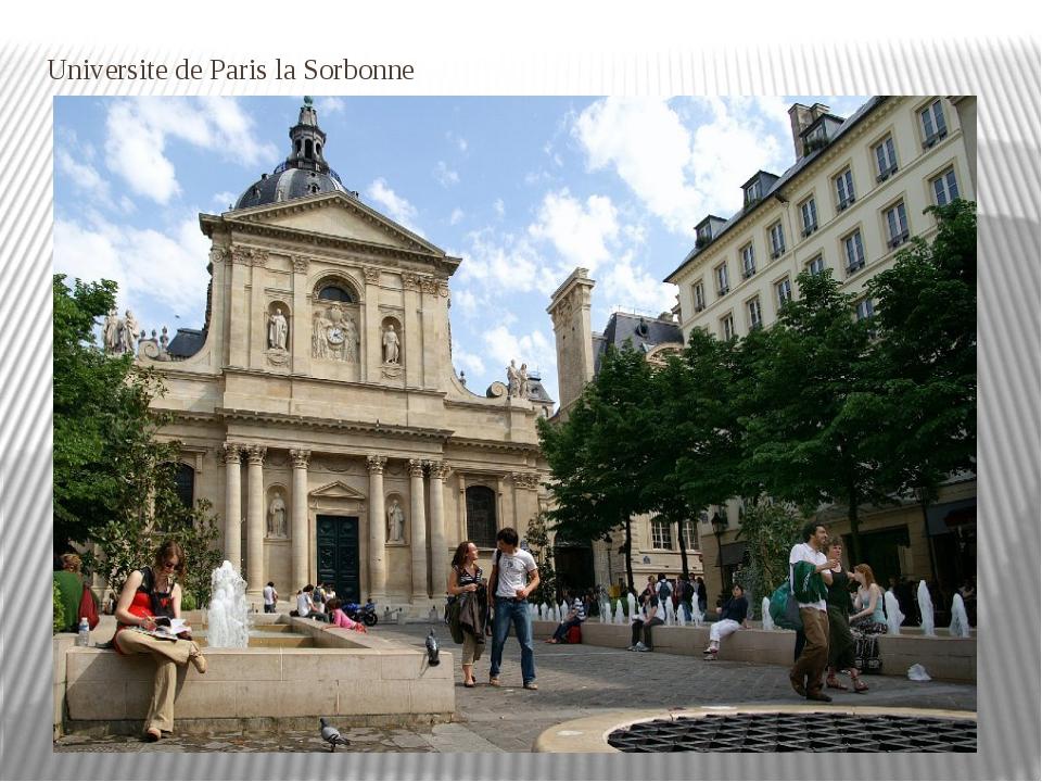 Universite de Paris la Sorbonne