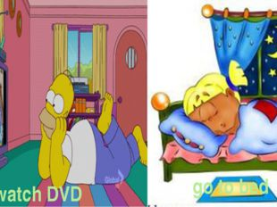 watch DVD go to bed