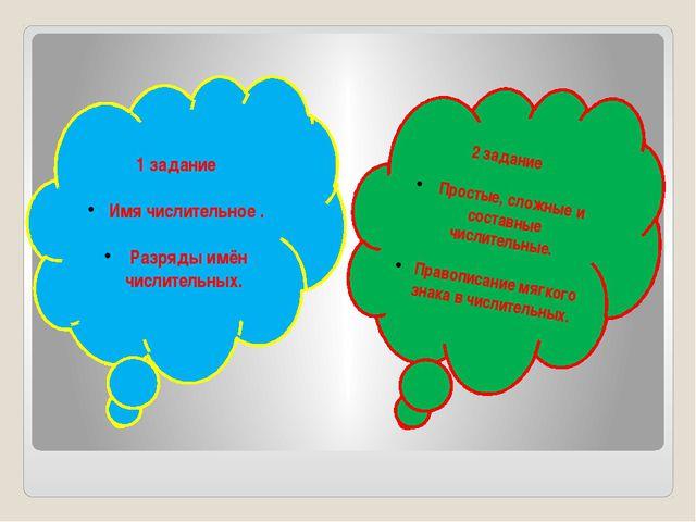 2 задание Простые, сложные и составные числительные. Правописание мягкого зн...