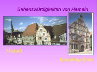Sehenswürdigkeiten von Hameln Altstadt Rattenfängerhaus