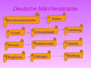 Deutsche Märchenstrasse Schwalmstadt Hanau Märchenschriftsteller Hameln Götti